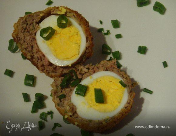 Яйца во фритюре по-шотландски