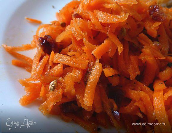 Морковный детский салат