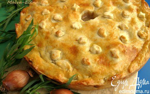 Рецепт Пирог из нежной курочки с луком и сидром