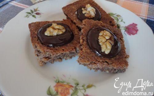 Рецепт Ореховое печенье в шоколадной глазури