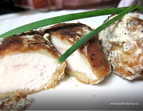 Куриные наггетсы в чесночно-сливочном соусе