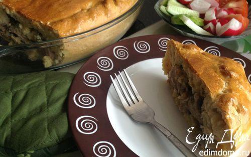 Рецепт Пирог со свининой, щавелем и сыром