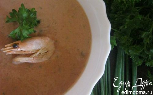 Рецепт Пряный холодный суп из огурца с креветками