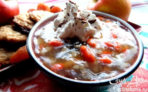 Рецепт Сладкий суп с рисом, фруктами и ягодами