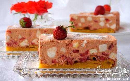 Рецепт Клубничное шифоновое пирожное