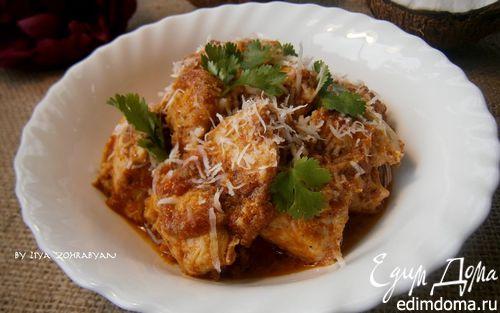 Рецепт Куриное филе в томатно-кокосовом соусе