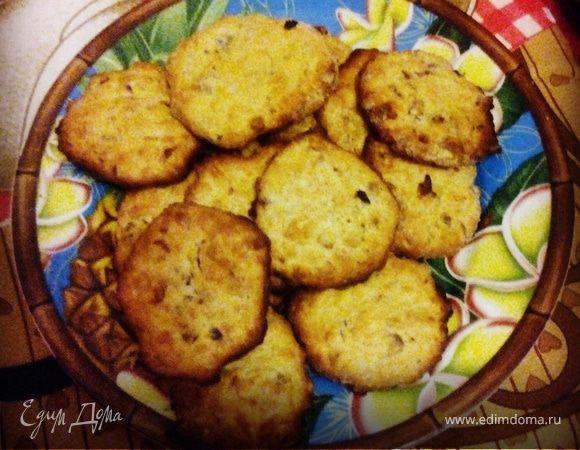 Овсяное печенье с орешками и медом