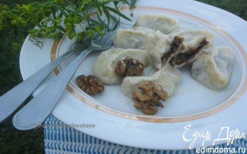 Рецепт Вареники с черносливом, грецкими орехами и медом