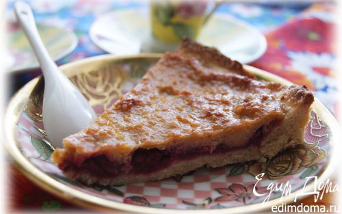 Рецепт Тарт с малиной и заварным медовым кремом