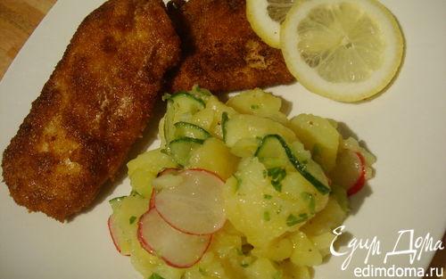 Рецепт Венский шницель с картофельным салатом
