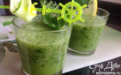 Рецепт Гаспачо из огурцов и ананаса