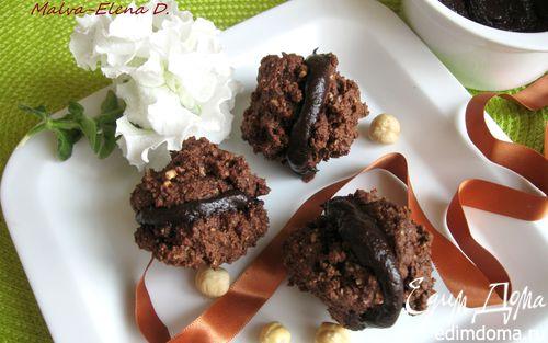 Рецепт Печенье шоколадно-ореховое «Поцелуи Алассио» («Baci di Alassio»)