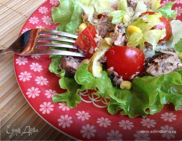 Испанский салат с тунцом