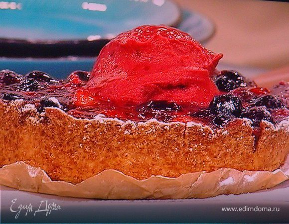 Летний ягодный тарт и ягодный сорбе