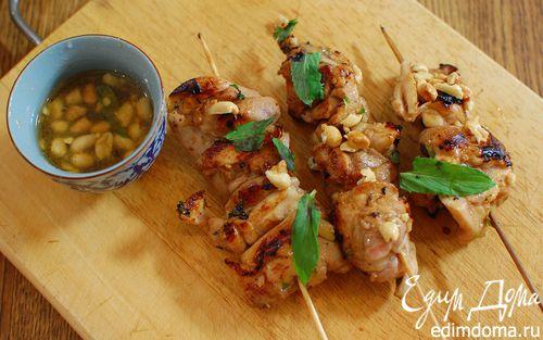 Рецепт Кебаб из цыпленка с чили и мятой