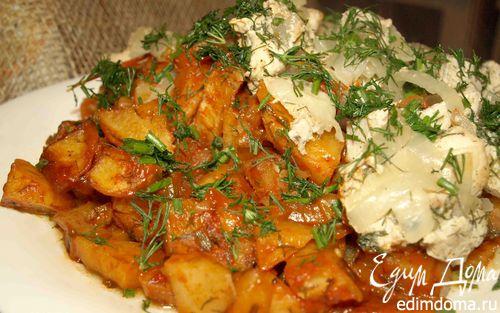 Рецепт Картофель, запеченный в томате