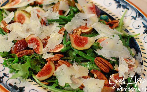 Рецепт Салат из инжира с фасолью и орехами пекан