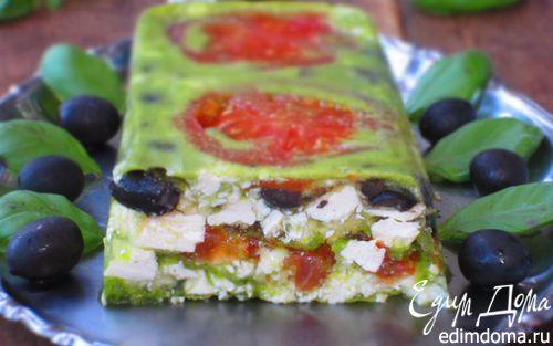 Рецепт Террин с помидорами, фетой и оливками