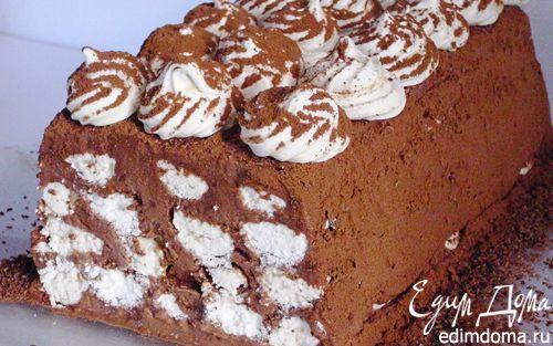 Рецепт Шоколадный торт – мороженое с меренгами
