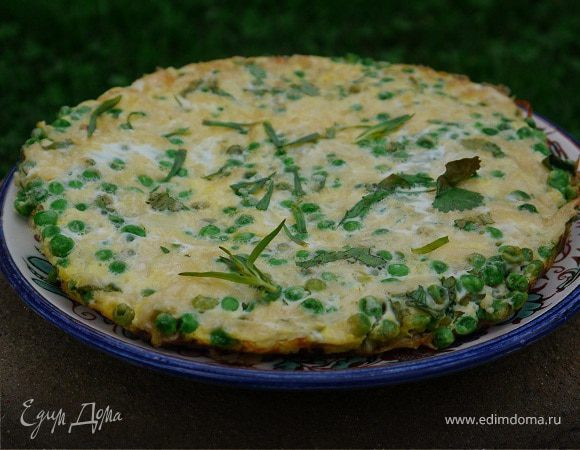 Фриттата с зеленым горошком и картофелем