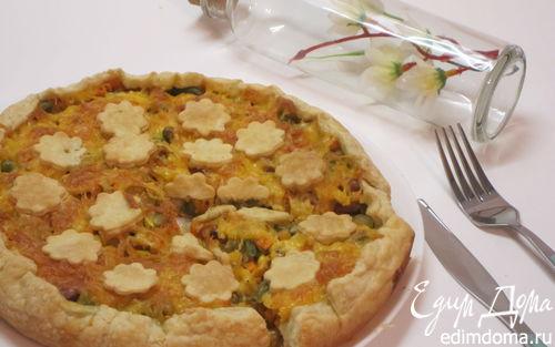 Рецепт Открытый пирог с овощами