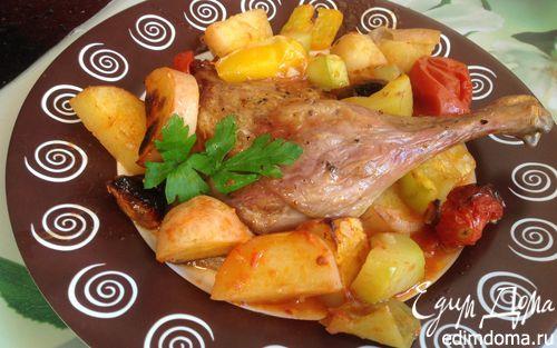 Рецепт Утиные ножки, запеченные с овощами