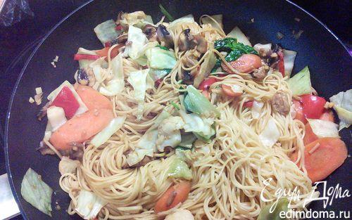 Рецепт Китайская лапша с овощами