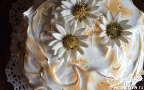 """Рецепт Торт """"Аляска"""" с ромашково-медовым мороженым"""