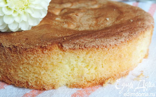 Рецепт Почти идеальный белый бисквит (тепловой способ приготовления)