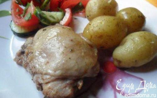 Рецепт Курица с молодой картошкой в рукаве
