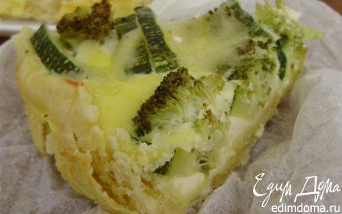 Рецепт Зеленый овощной киш