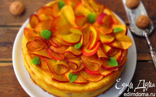 Рецепт Итальянский пирог с персиками