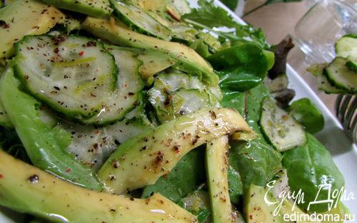 Рецепт Зеленый салат с авокадо