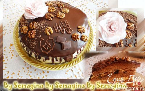 Рецепт Шоколадный торт с ликером и черносливом