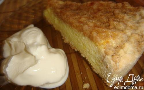 Рецепт Песочный пирог со сливочно-молочной начинкой