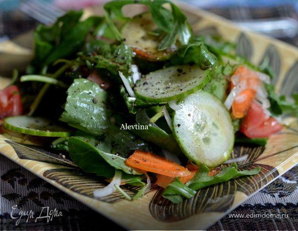 Шпинатный салат с заправкой