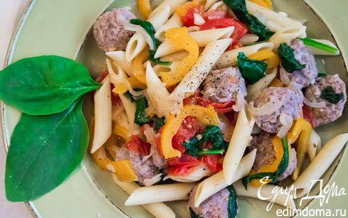 Рецепт Паста с итальянскими колбасками
