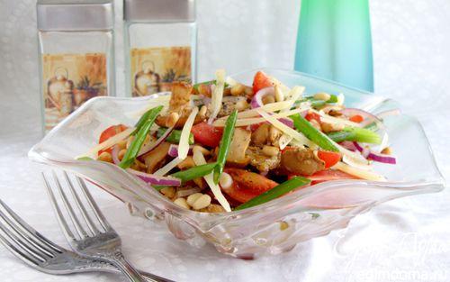 Рецепт Пикантный салат с лисичками