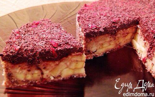 Рецепт Шоколадно-цитрусовый торт с бананом