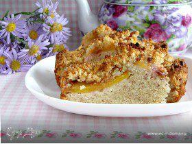 Миндальный пирог с персиками и штрейзелем