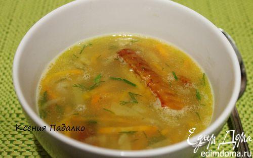 Рецепт Гороховый суп с копчеными крылышками