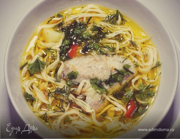 приготовление домашней суп лапши пошаговый рецепт