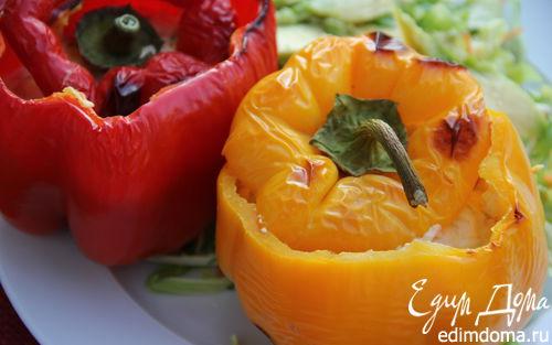 Рецепт Перцы, фаршированные вялеными томатами и рикоттой