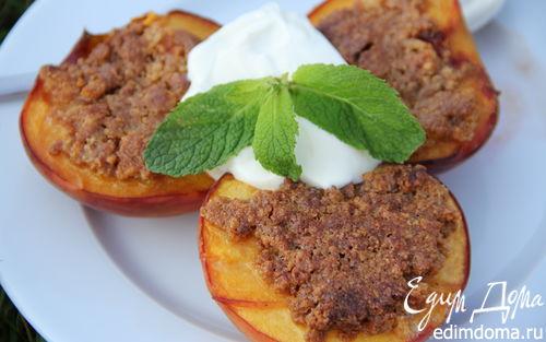 Рецепт Персики, запеченные с амаретти