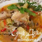 Густой куриный суп с луком