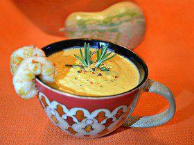 Тыквенный суп с лангустинами