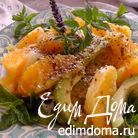 Салат из апельсина и авокадо