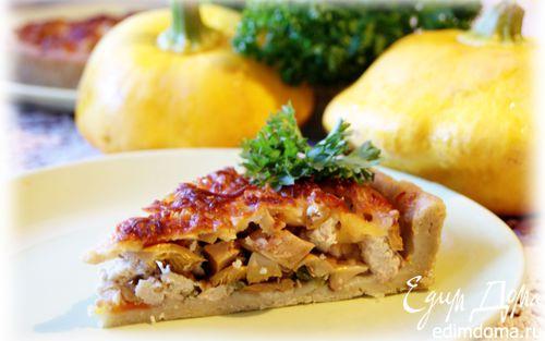 Рецепт Осенний пирог с лисичками на картофельном тесте