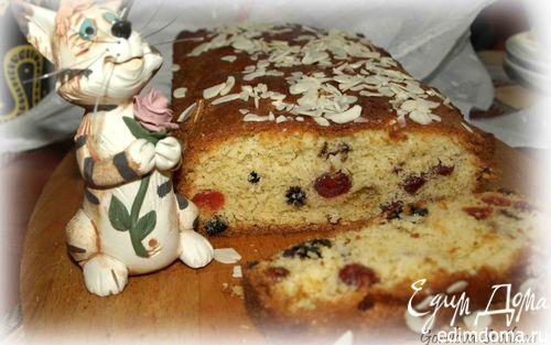 Рецепт Кекс с вяленой вишней, арахисом и шоколадом