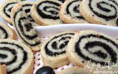 Рецепт Сырное печенье с маслинами и ароматом лимона